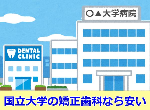 国立大学の矯正歯科
